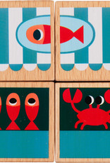 Lilliputiens Trekfiguur puzzel Marktkraam van Marius