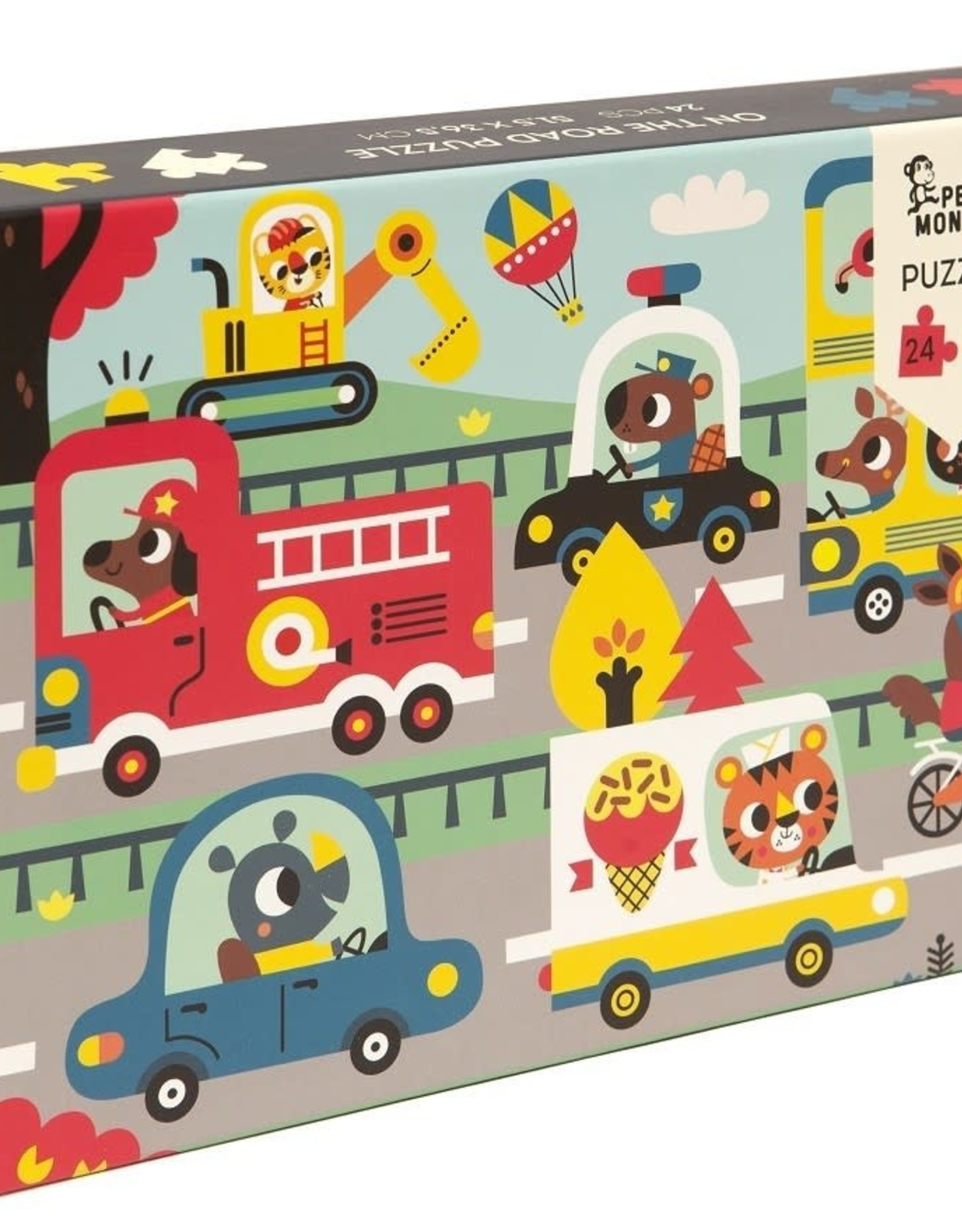 Petit Monkey Puzzel On the road
