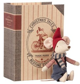 Maileg Christmas Mouse In Book Boy