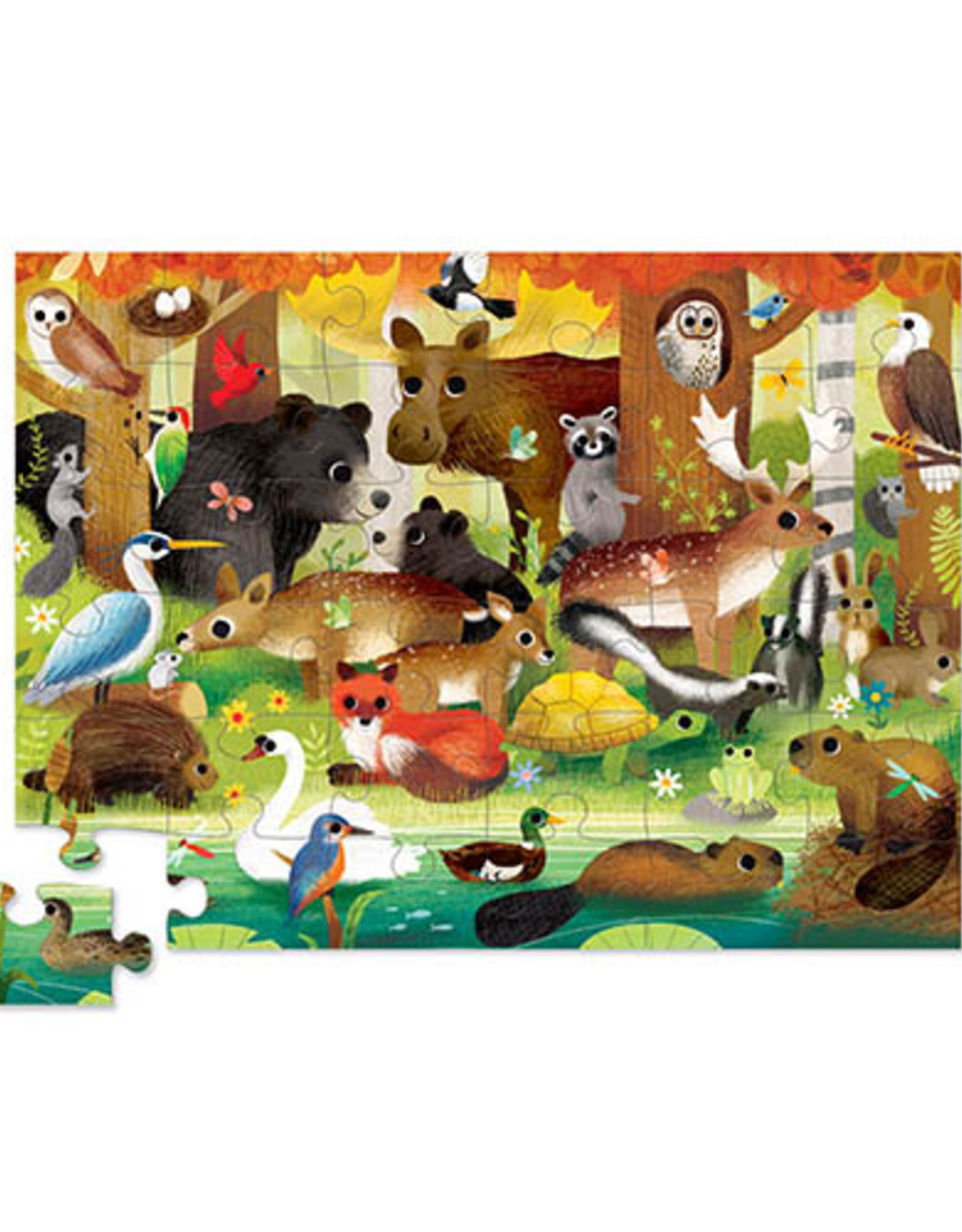 Crocodile Creek Vloerpuzzel Forest Friends 36 stukjes