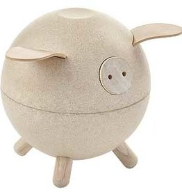 Plantoys Spaarpot Piggy Bank Naturel