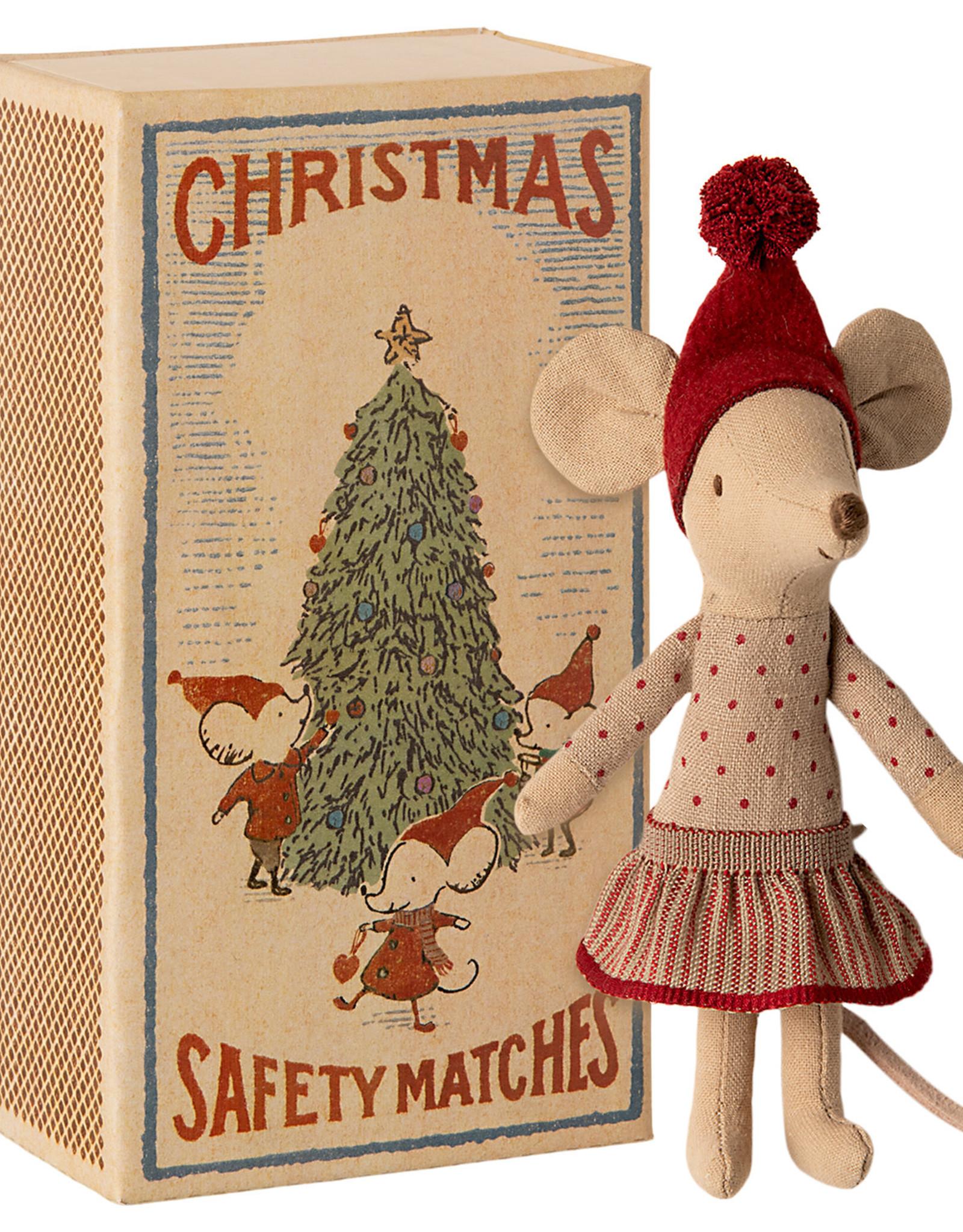 Maileg Grote zus Christmas mouse in doosje