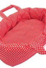Reiswiegje rood met witte stippen