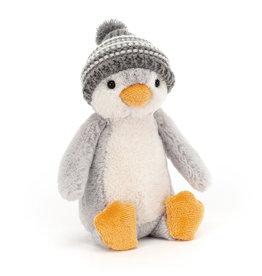 Jellycat Bashful Bobble Hat Penguin Grey