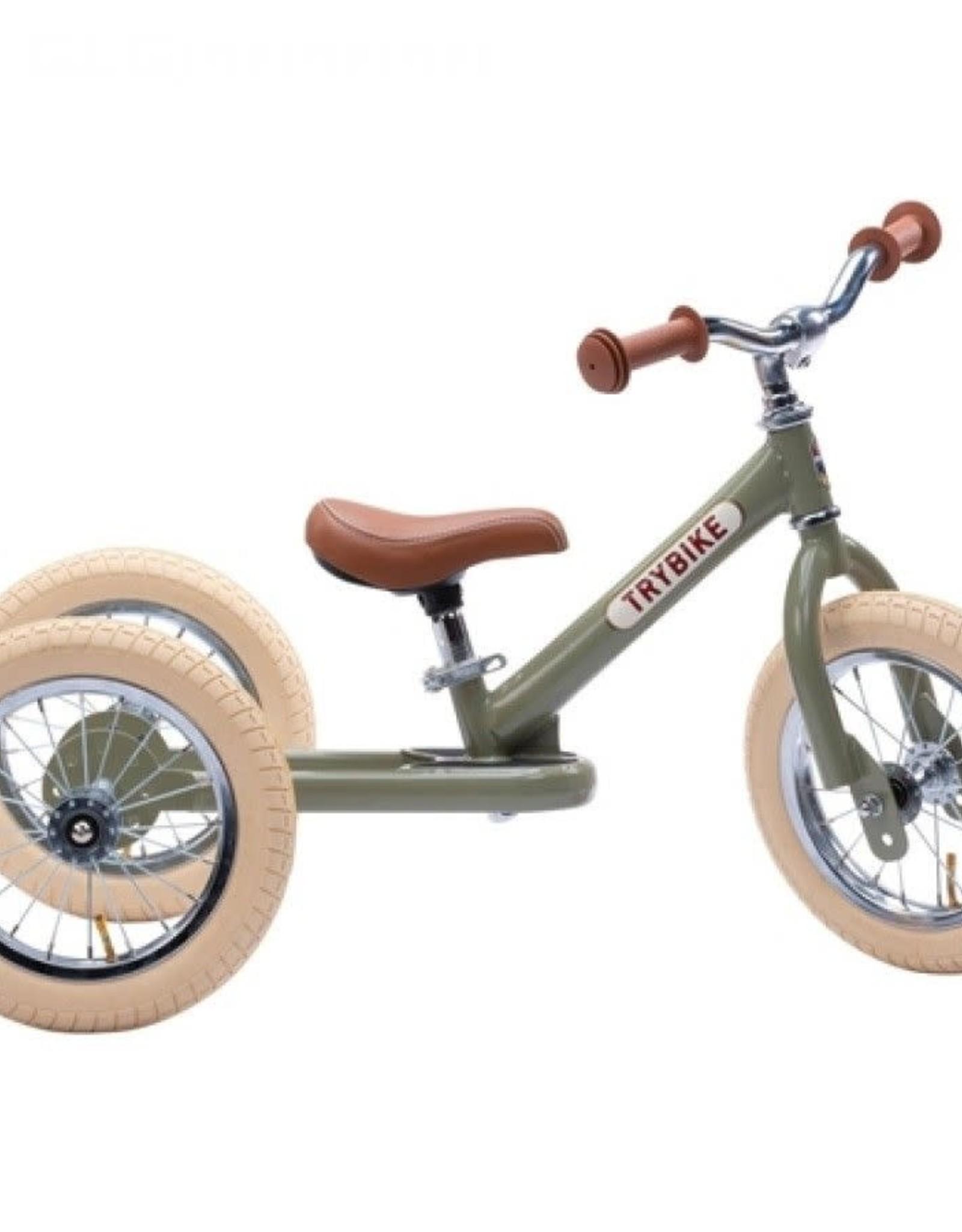 Trybike Loopfiets Trybike Steel Retro Green