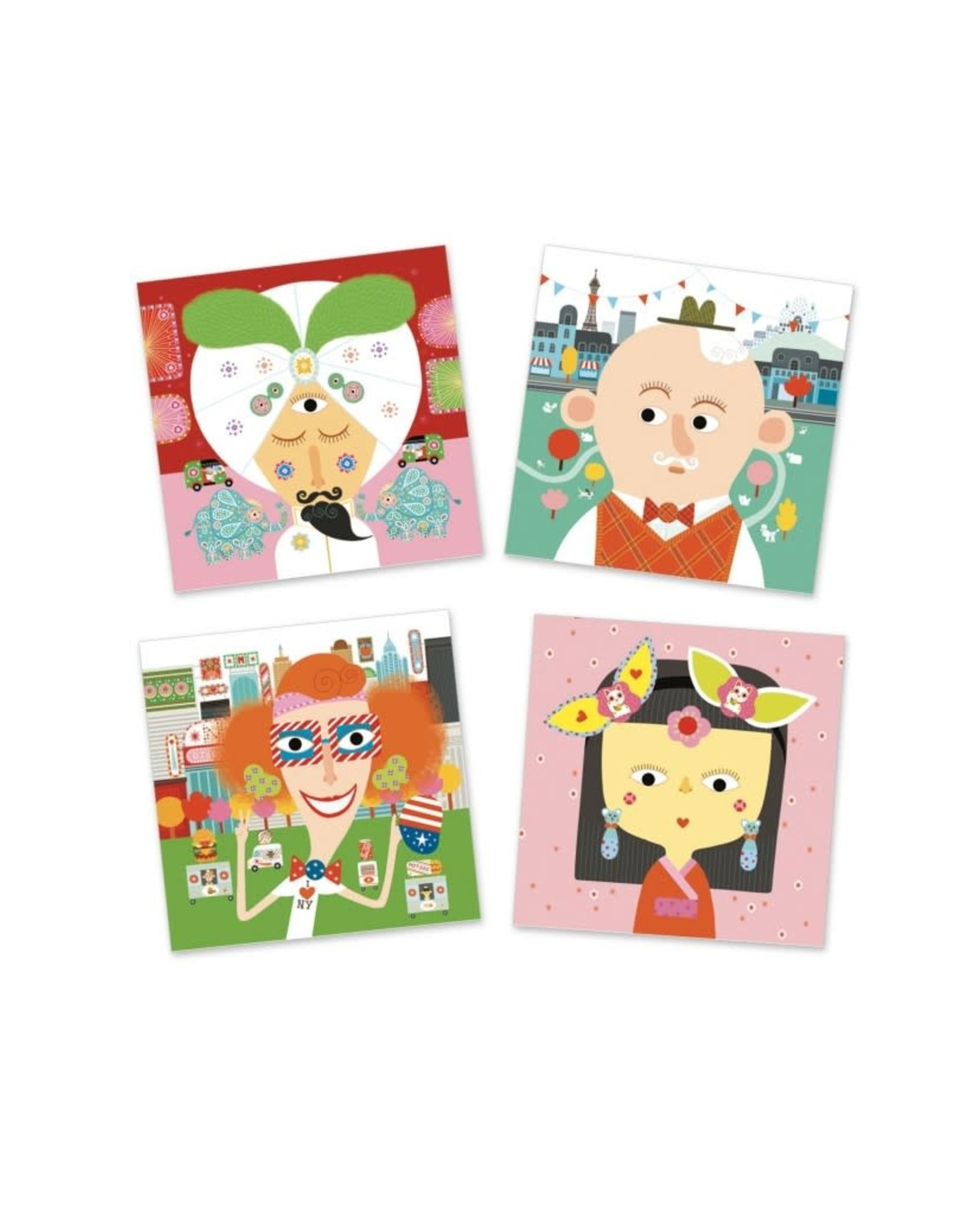 Djeco Creatief Met Stickers Gezicht
