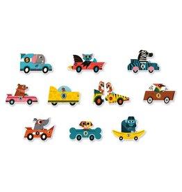Djeco Puzzelduo Raceauto's