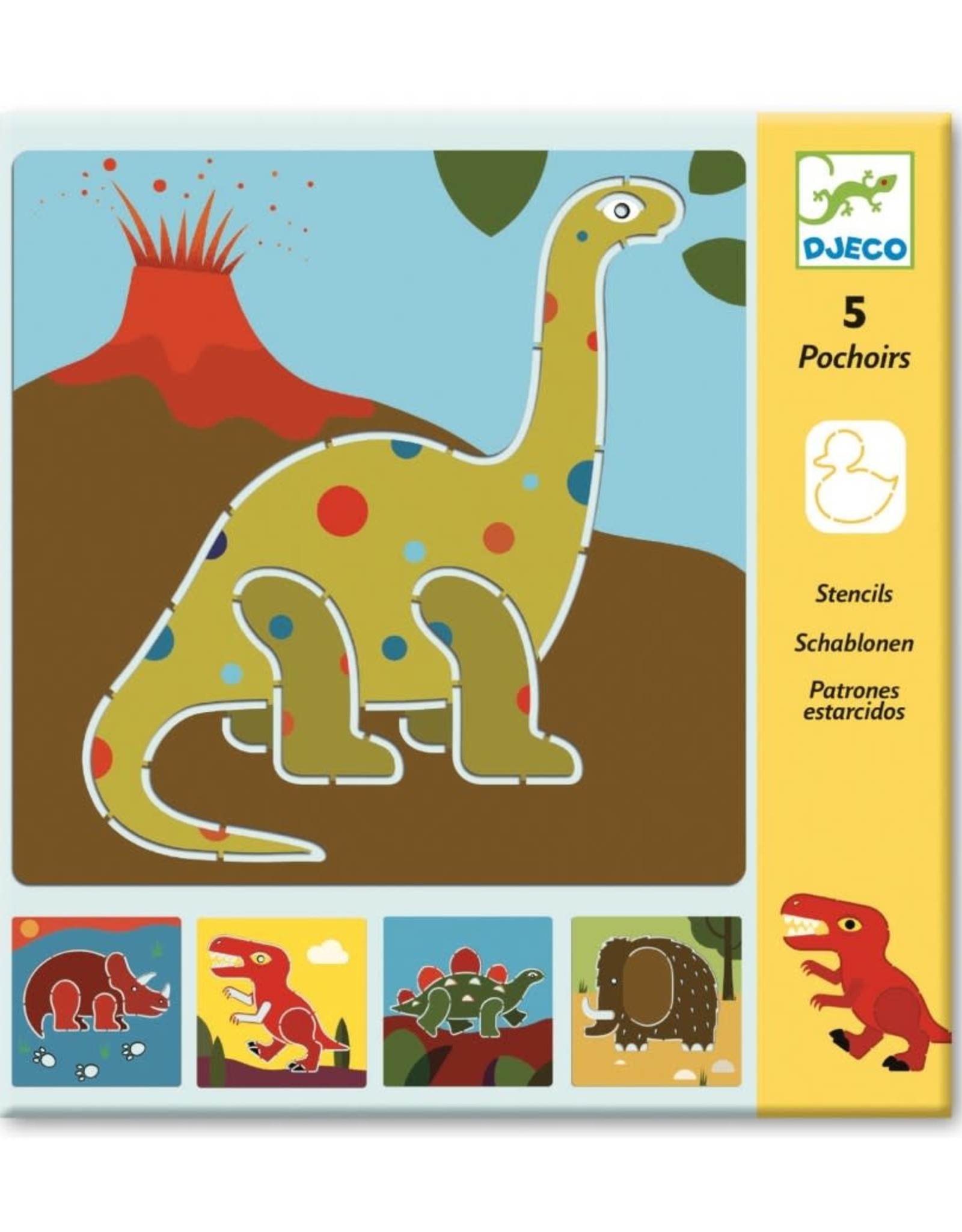 Djeco Sjablonen Dinosaurus
