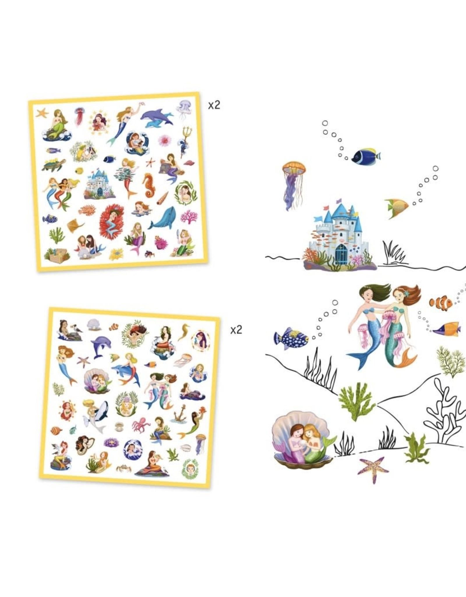 Djeco Stickers Zeemeerminnen
