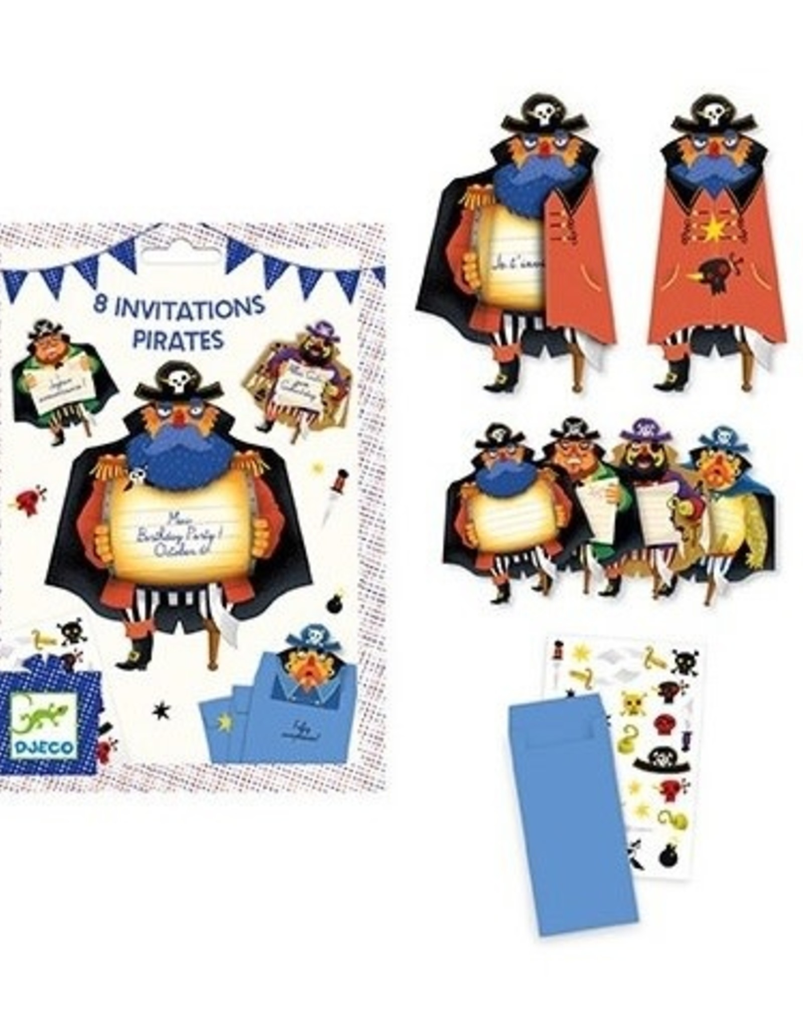 Djeco Uitnodigingen Piraten