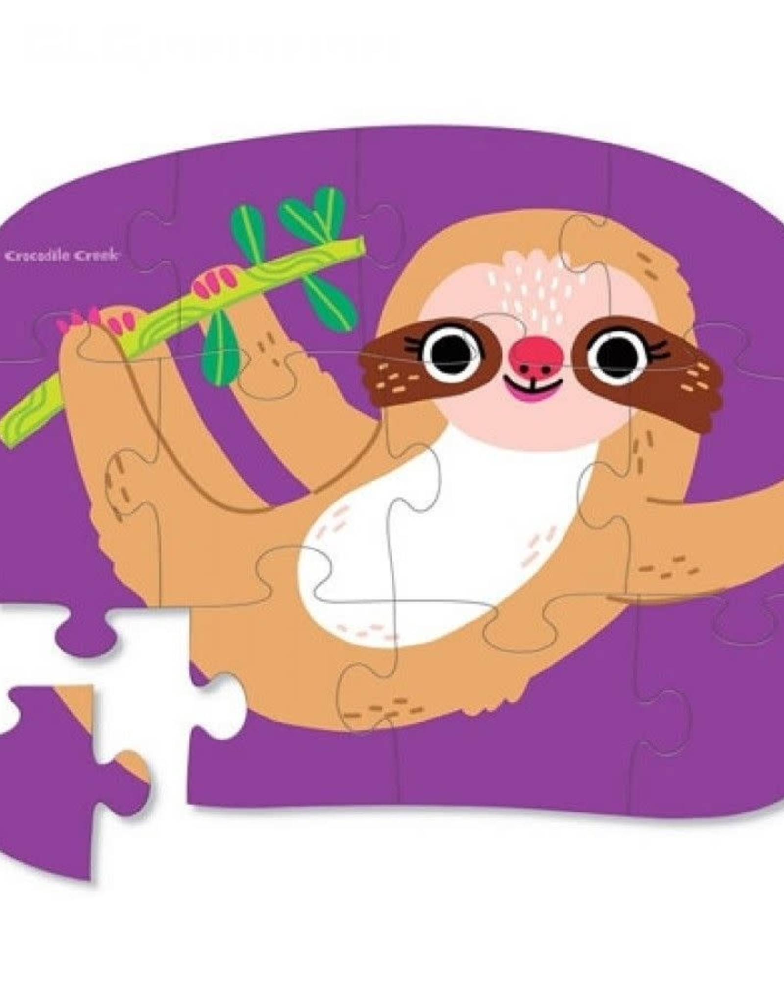 Crocodile Creek Minipuzzel Sweet Sloth 12st.
