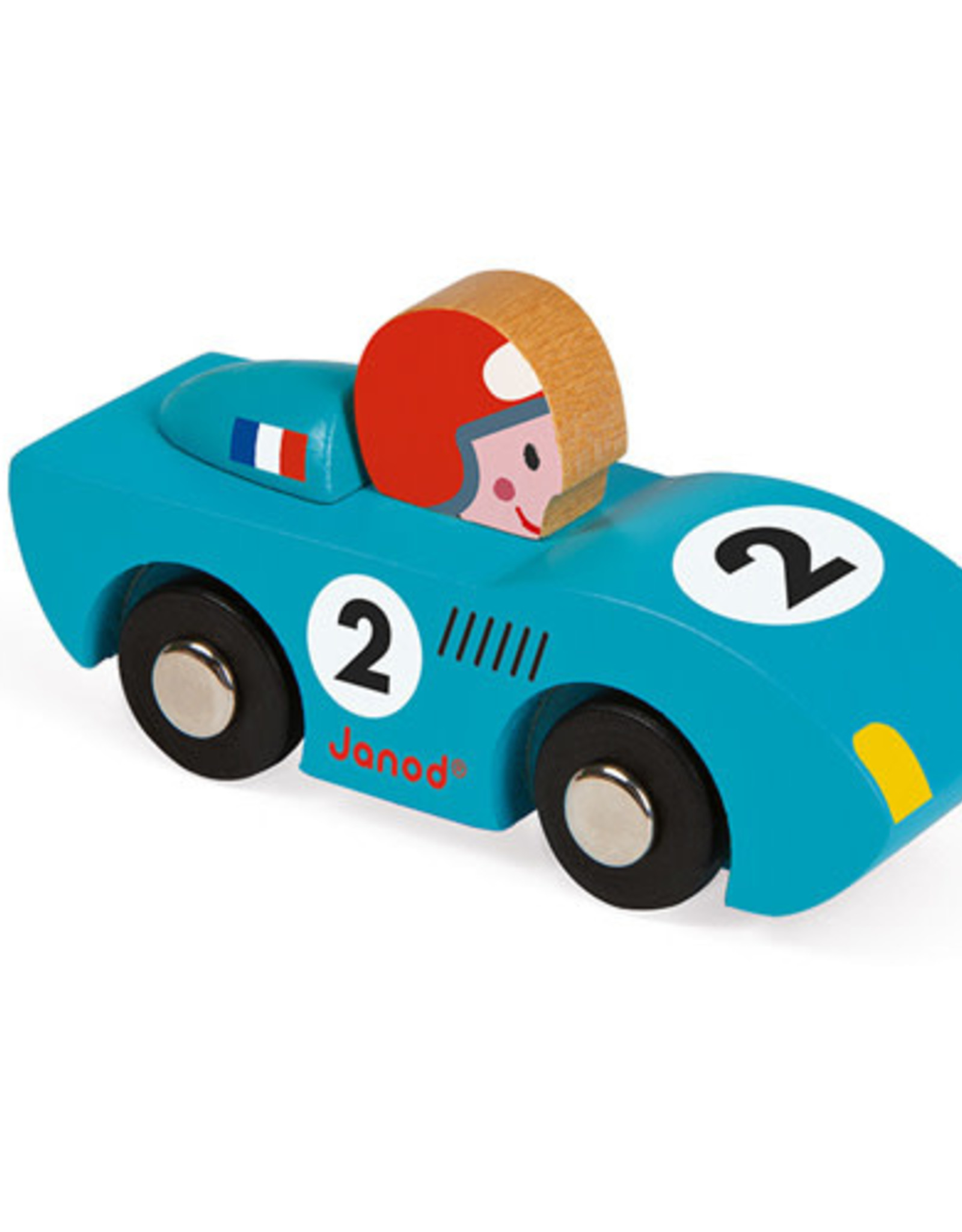 Janod Autootje Story Racing Speed blauw