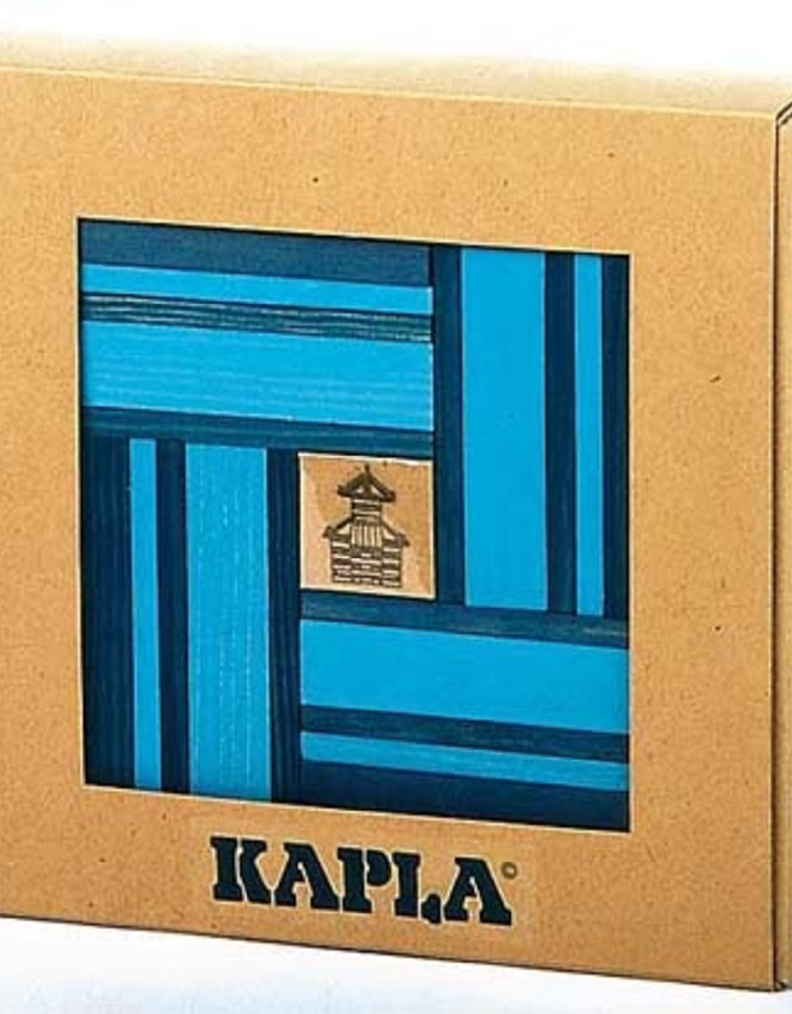Kapla Kapla Kadoset blauw 40 stukjes & boek