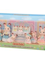 Sylvanian Families Chocolat Rabbit Family Celebration set