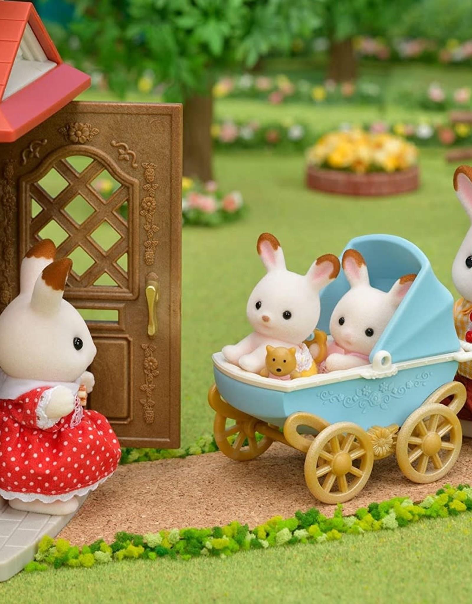 Sylvanian Families Chocolade Konijn Tweeling set