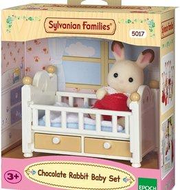 Sylvanian Families Chocolat Rabbit Babybed