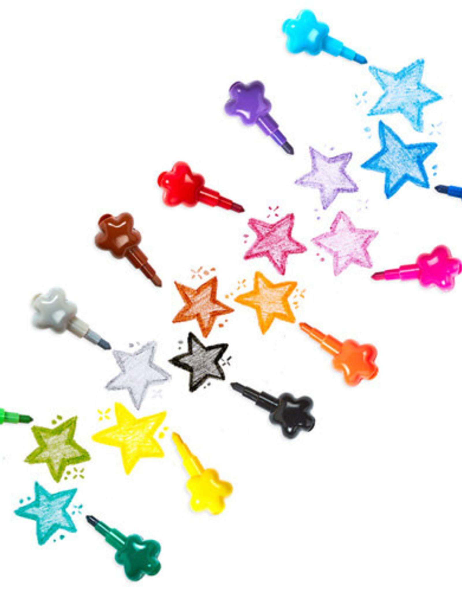Ooly Stapelbare waskrijtjes Stack of Stars