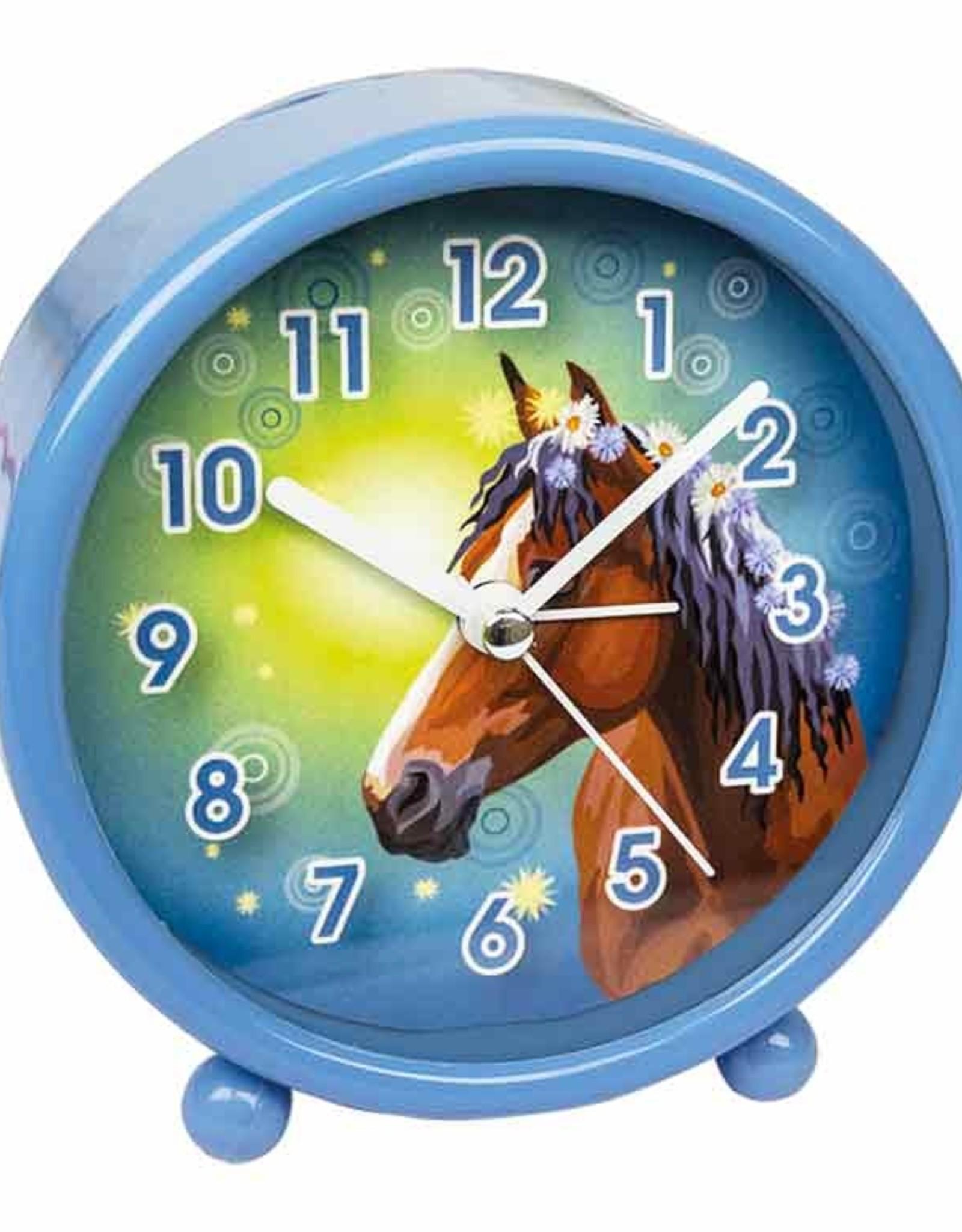 Wekker Paard Blauw