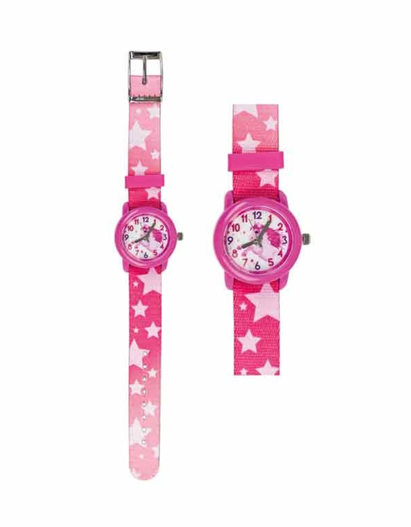 Horloge Paard Pink