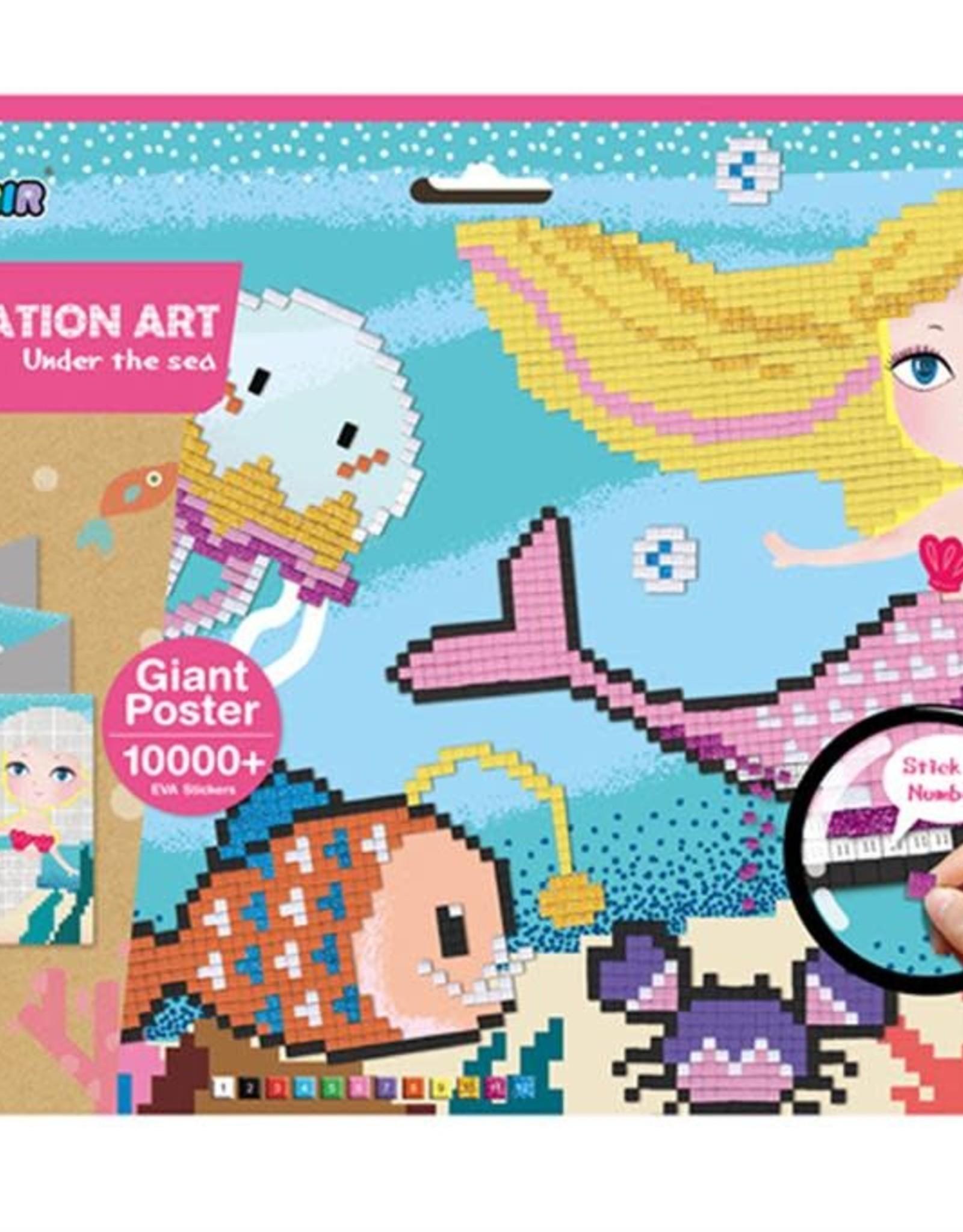 Avenir Pixelation Art Under the sea