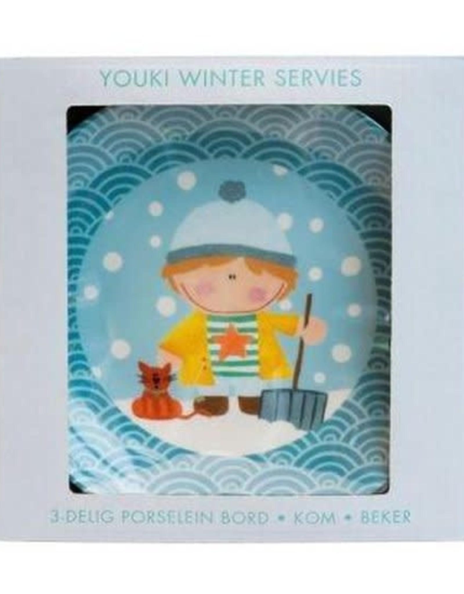 Studio Youki Winter servies set Jongetje