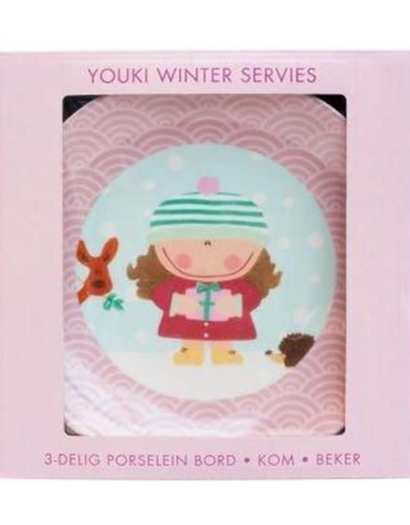 Studio Youki Winter servies set Meisje