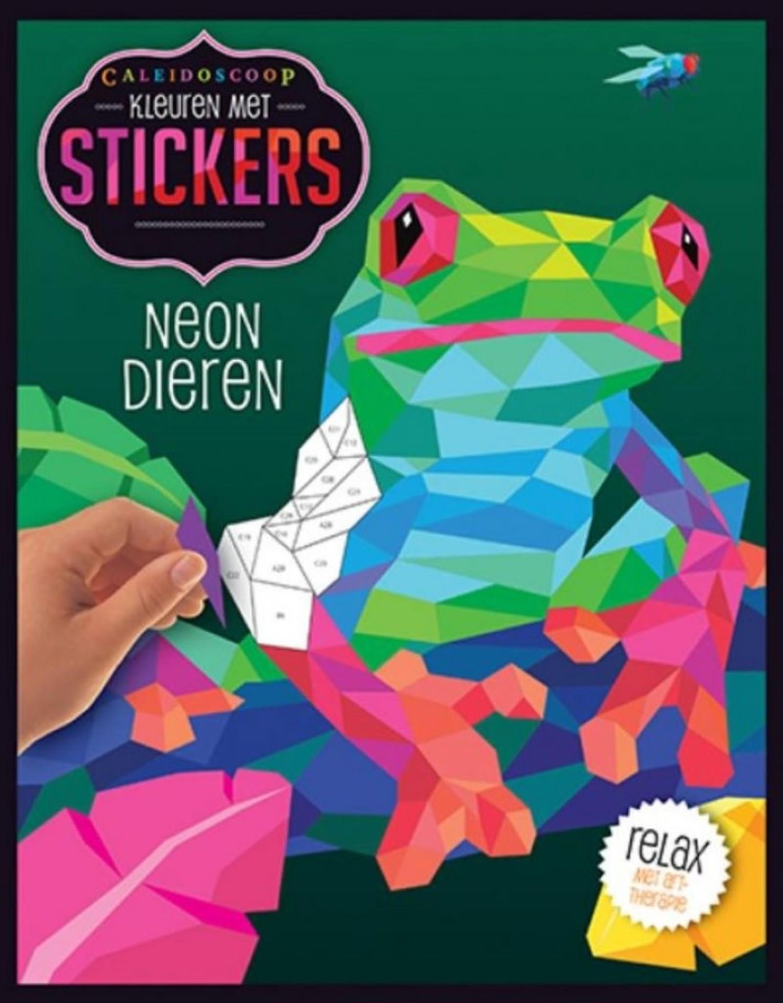 Lantaarn Kleuren met stickers Neon Dieren