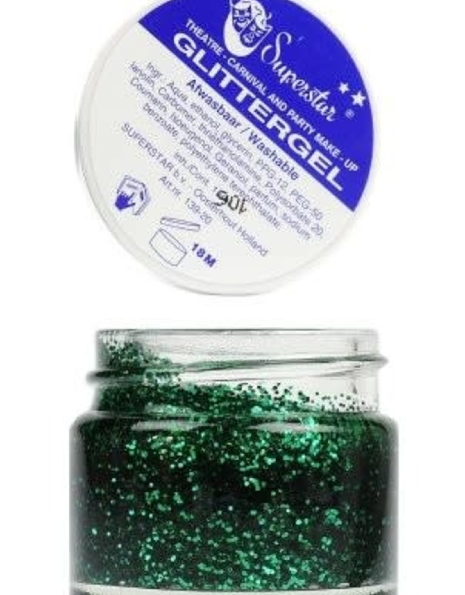 Superstar Glittergel Groen