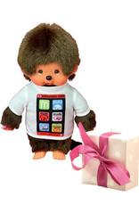 Monchhichi Monchhichi Actieset Jongetje met Smartphone shirt + extra kledingsetje