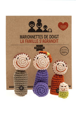 Vingerpoppetjes set Modern family