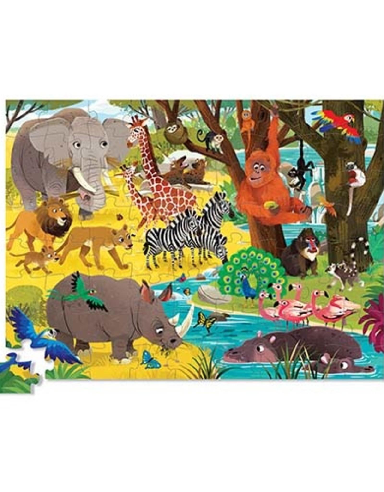 Crocodile Creek Puzzel Wild Safari 72st.
