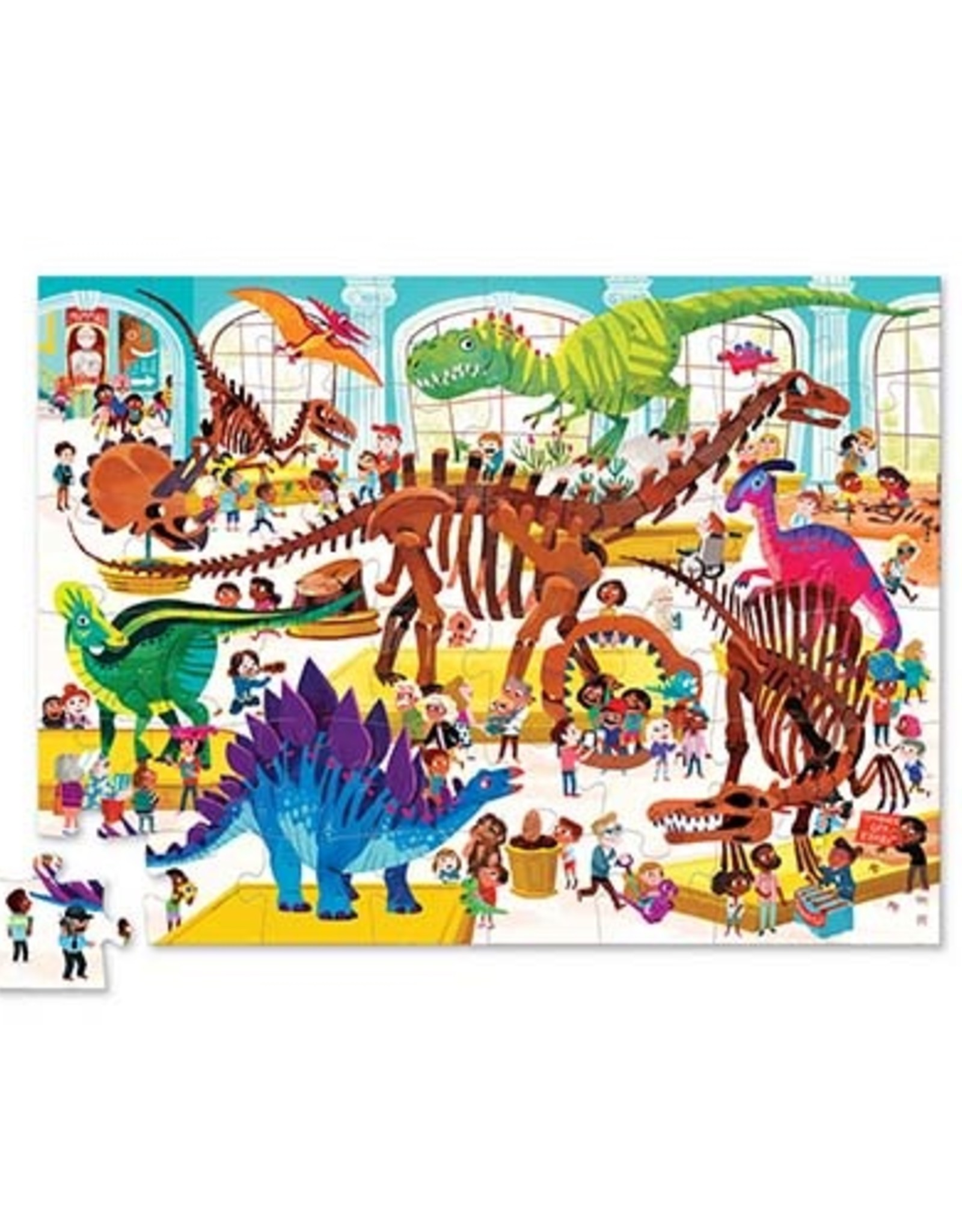 Crocodile Creek Puzzel Day at the Museum - Dinosaur 48st.