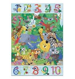 Djeco Puzzel 1 tot 10 Jungle 54st.