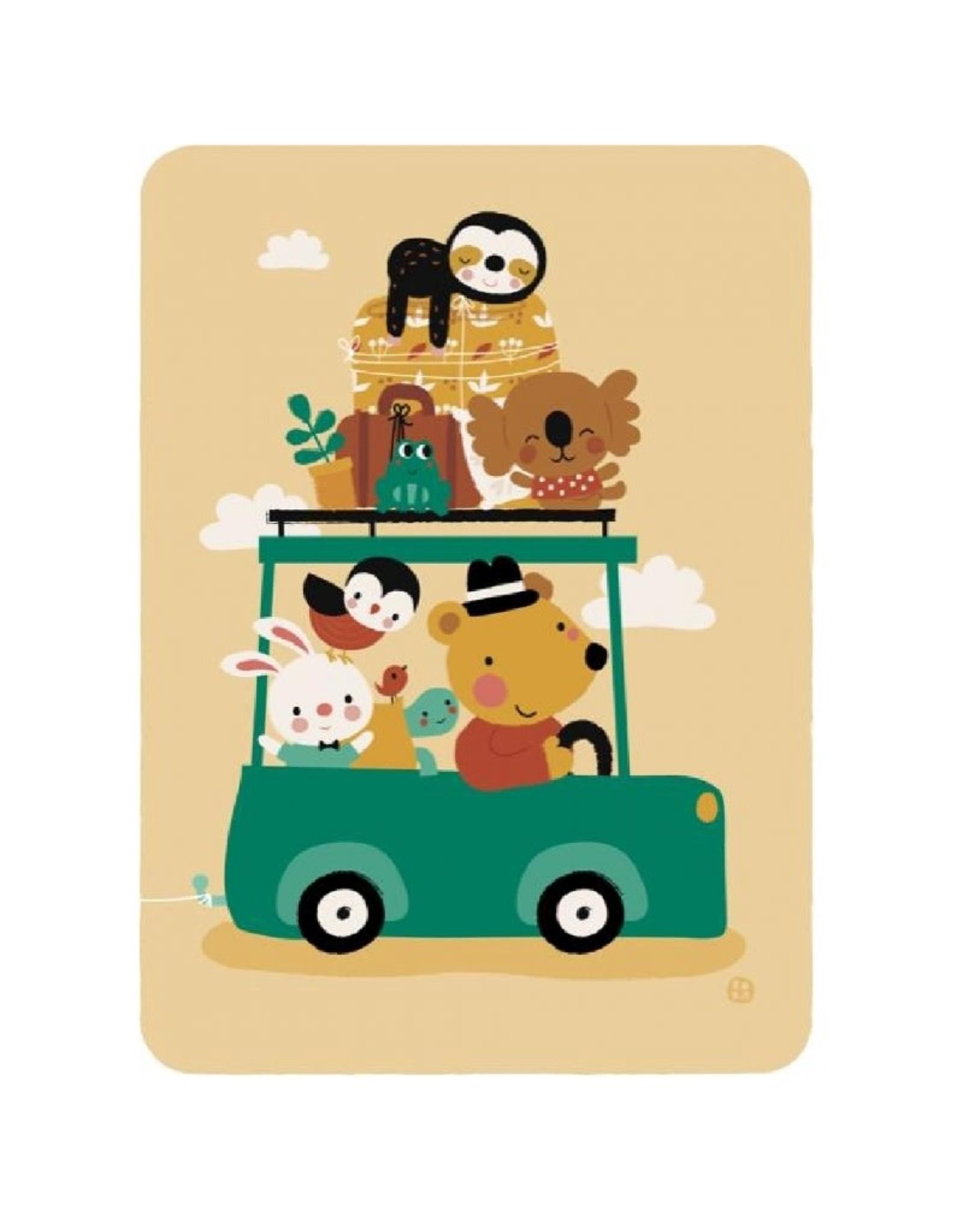 Postkaart Going on holiday