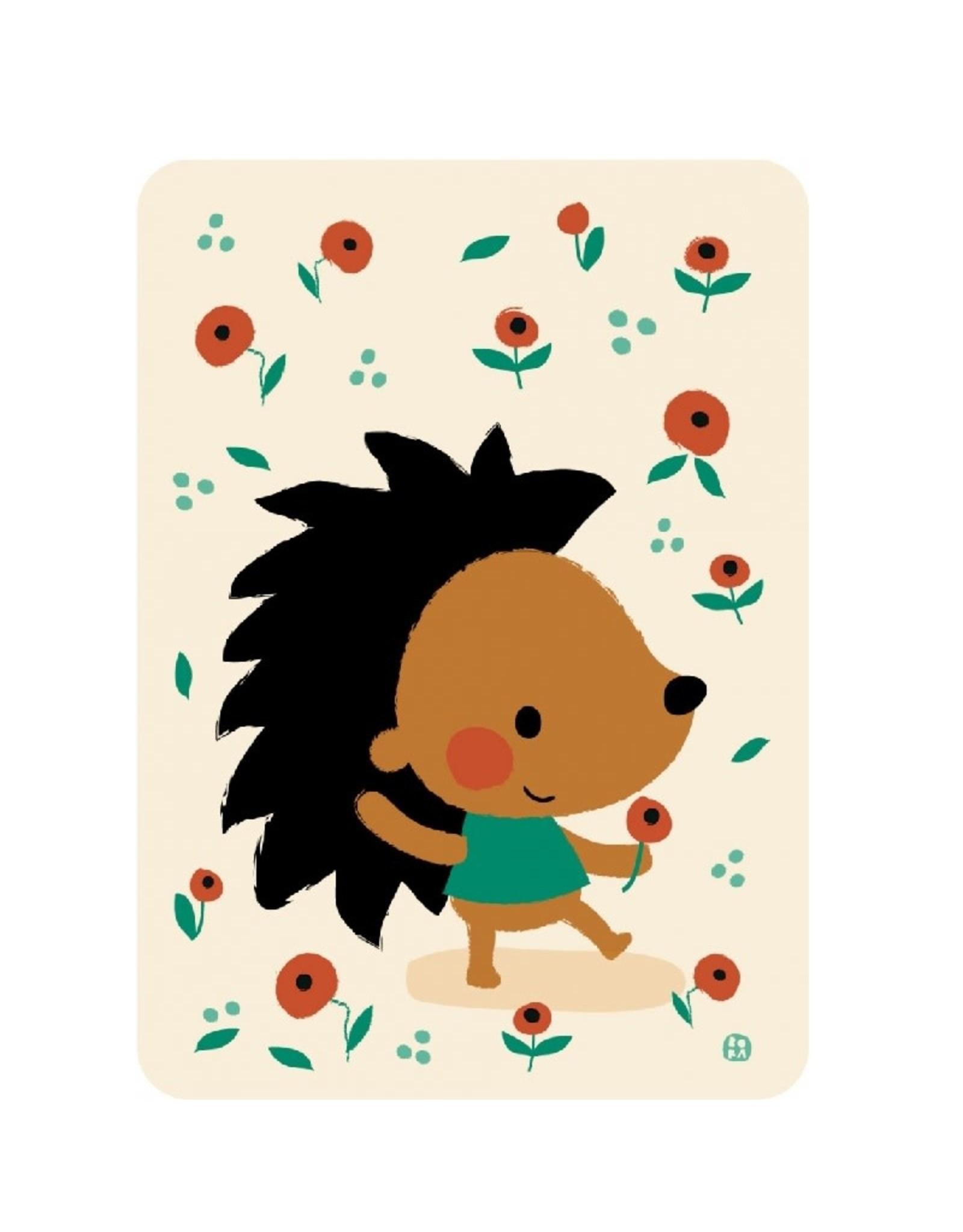 Postkaart Poppy hedgehog