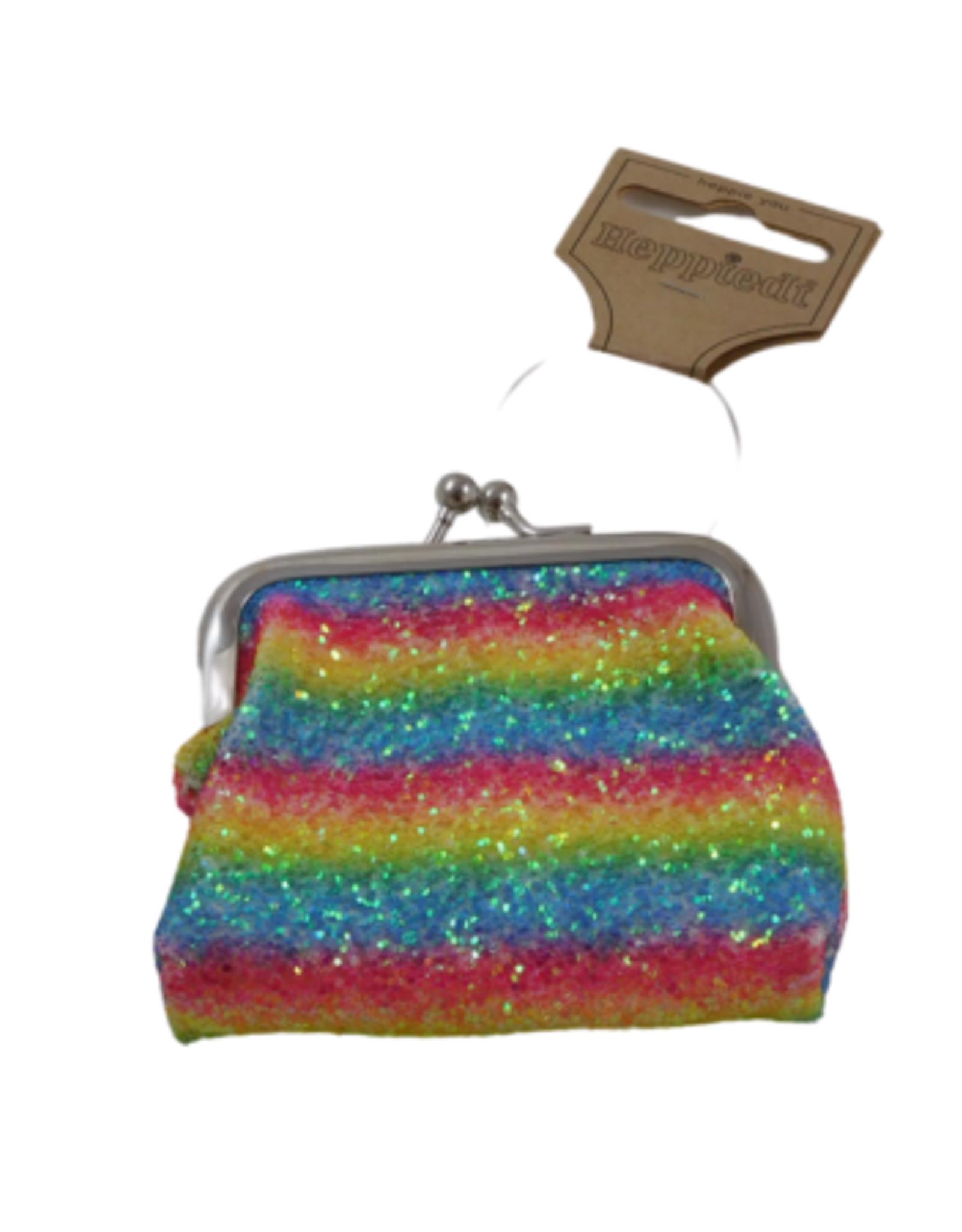 Portemonneetje Glitter Rainbow
