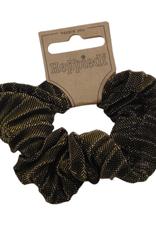 Scrunchie Lurex zwart/goud