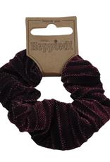 Scrunchie Lurex zwart/roze