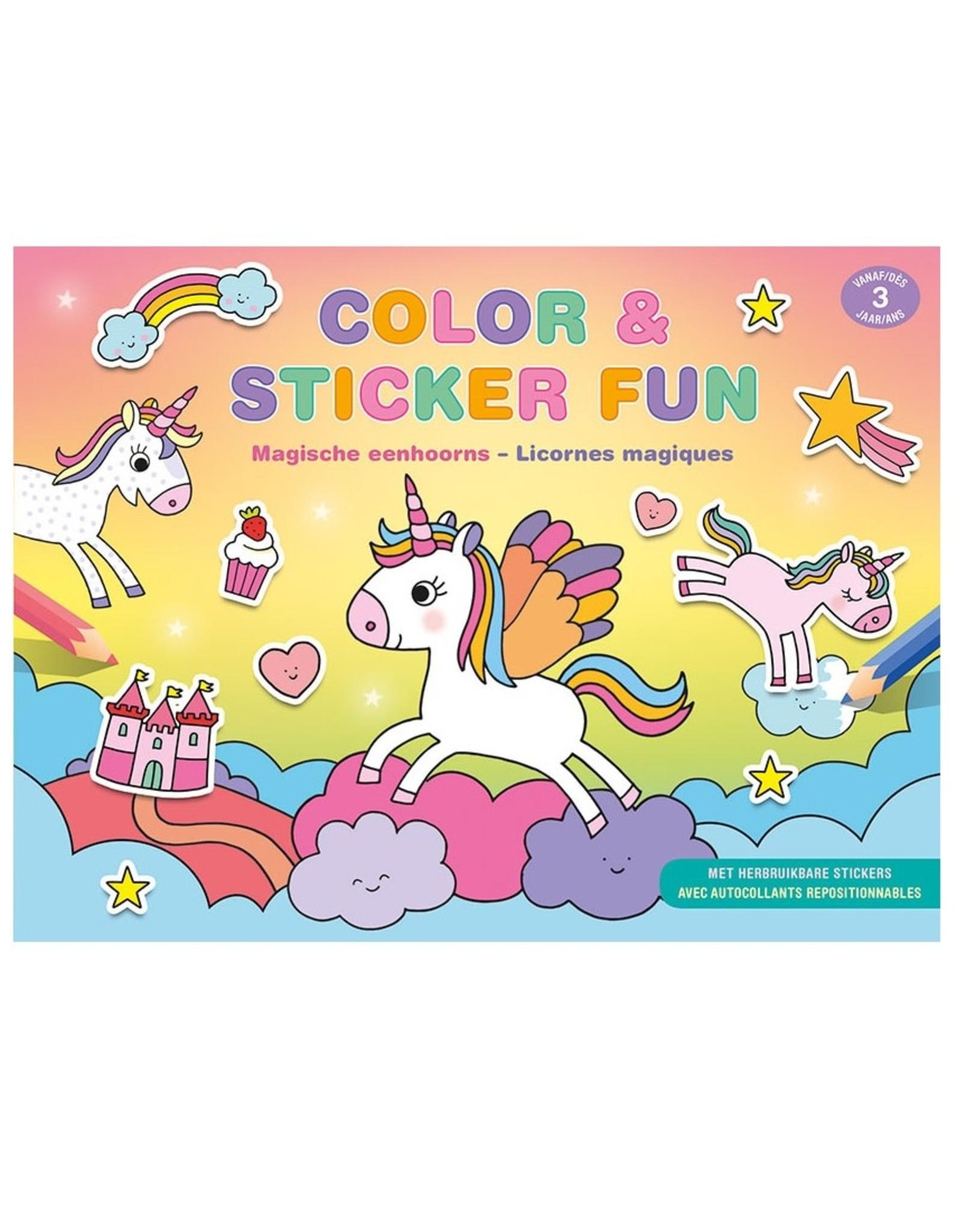 Deltas Color & Sticker Fun Magische Eenhoorns