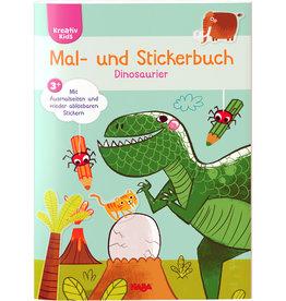 HABA kleur- en stickerboek Dinosauriers