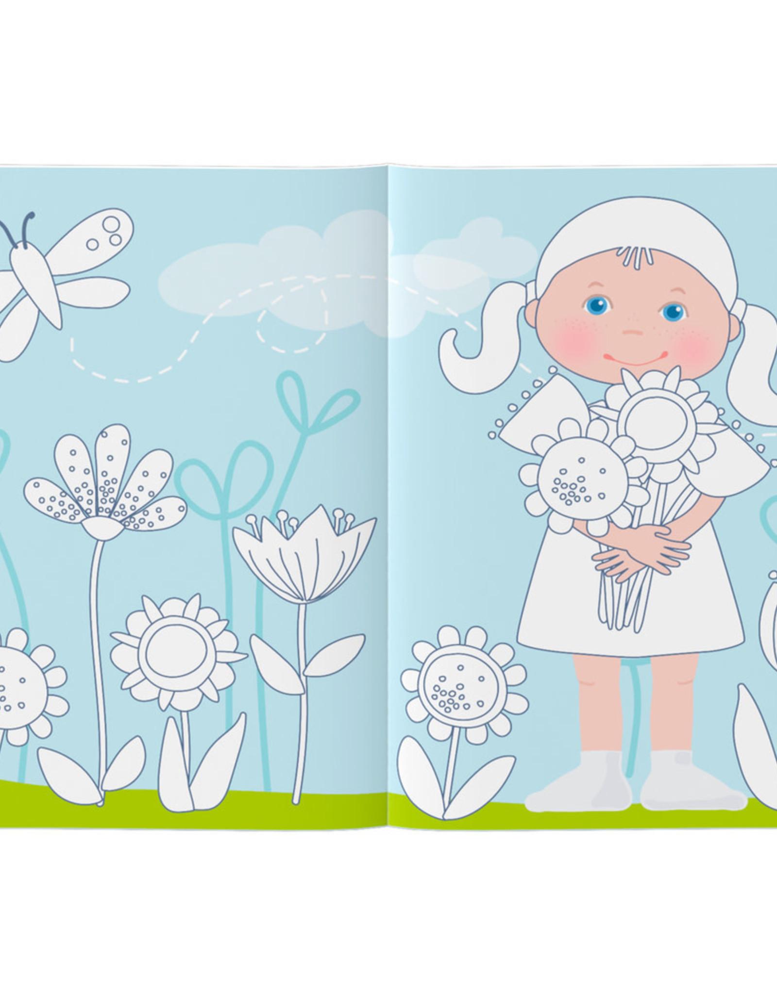 HABA Kleur- en stickerboek Aankleedpoppen