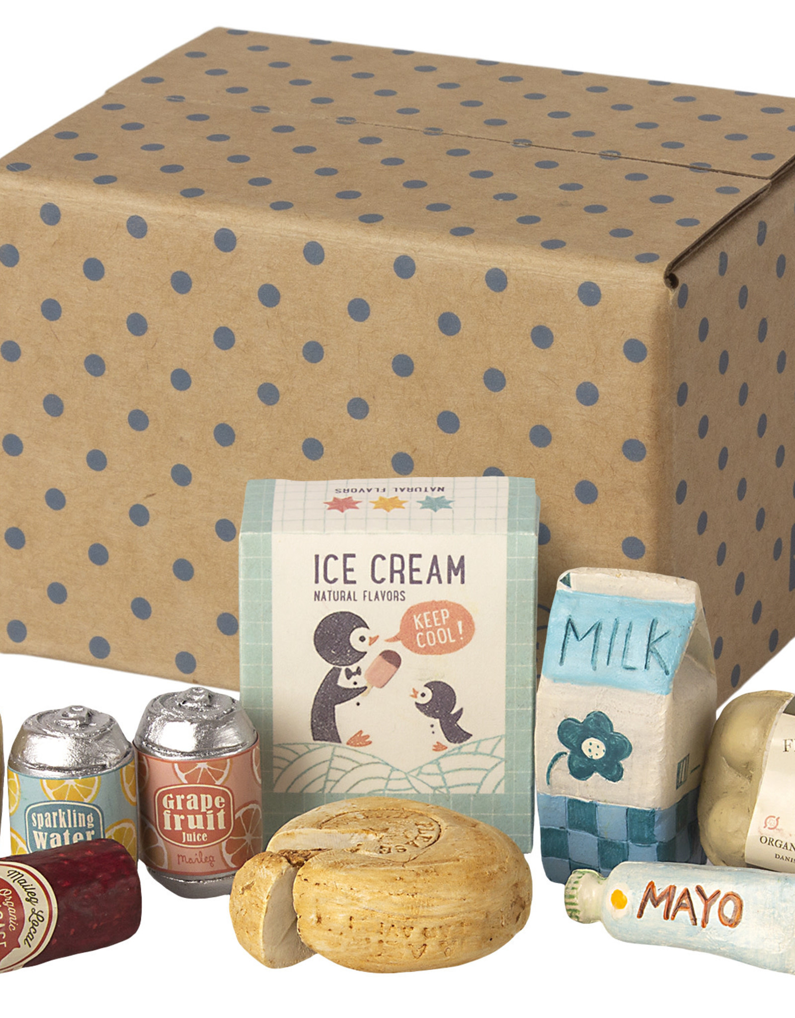 Maileg Miniatuur doos met boodschappen
