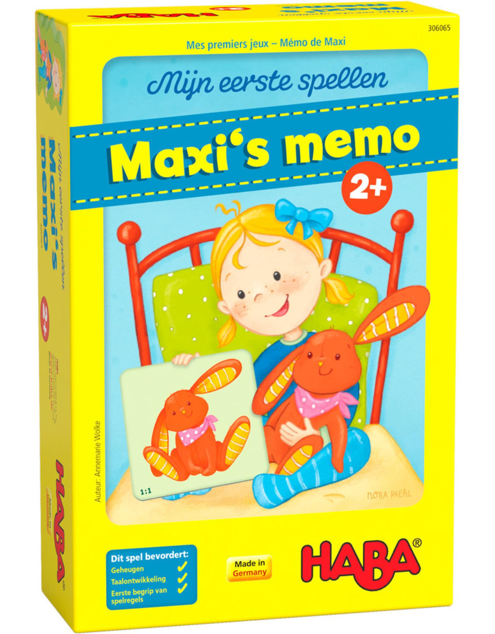HABA Eerste spel Maxi's memo