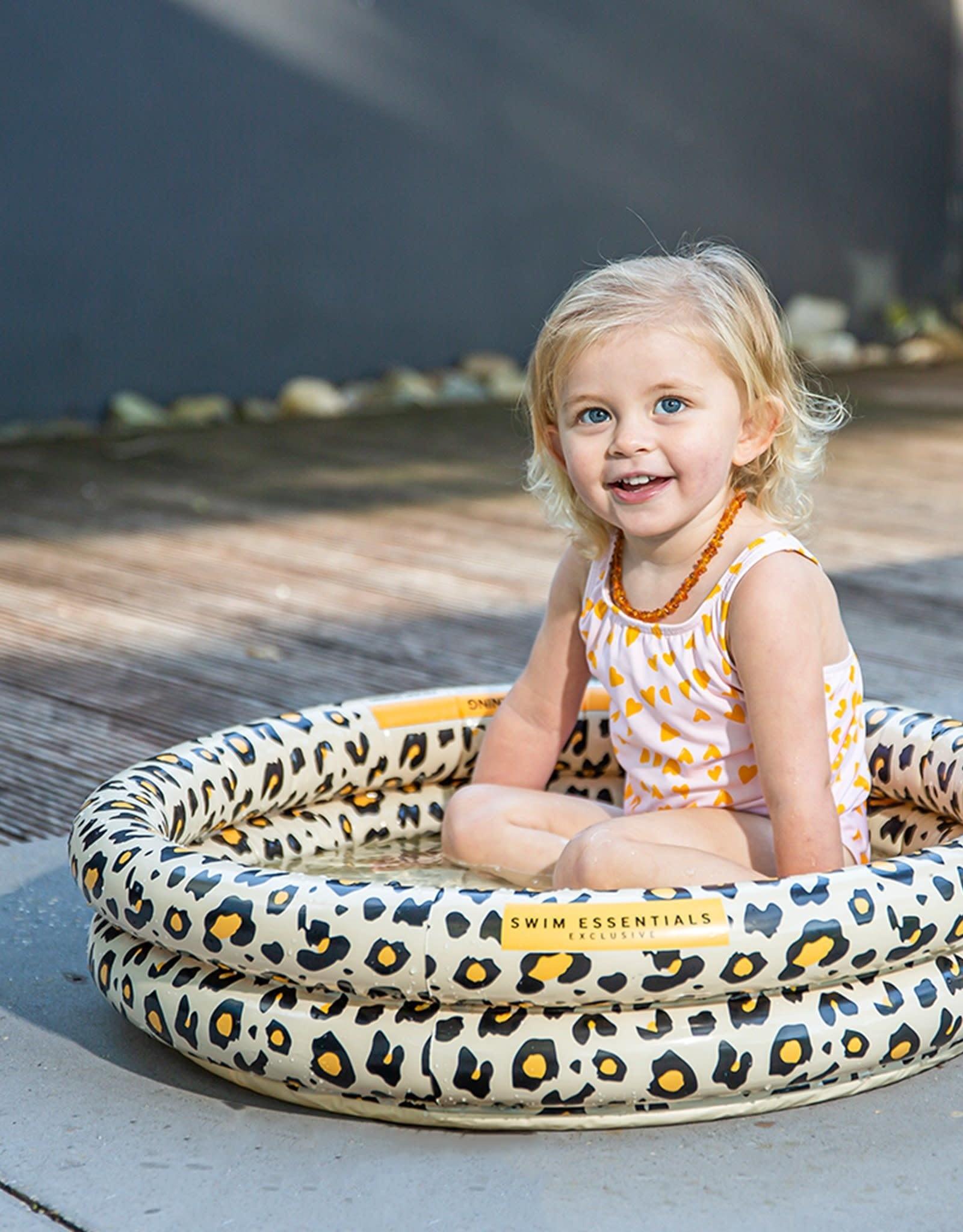 Swim Essentials Baby zwembad Panterprint beige