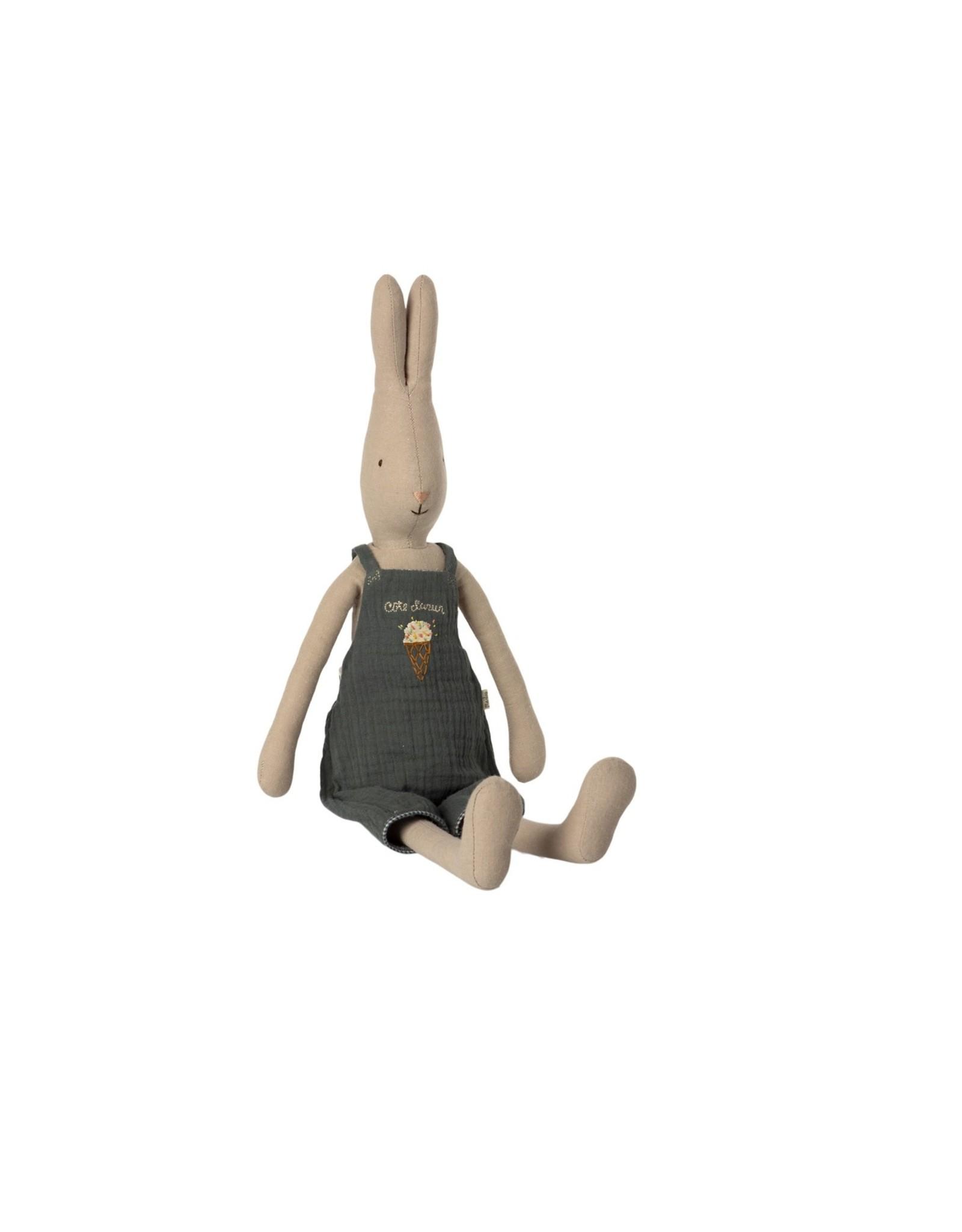 Maileg Haas Rabbit met groene overall Size 3