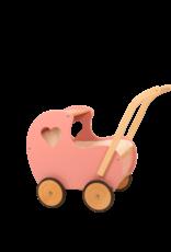 Van Dijk Toys Poppenwagen Vintage Rosé met open hart
