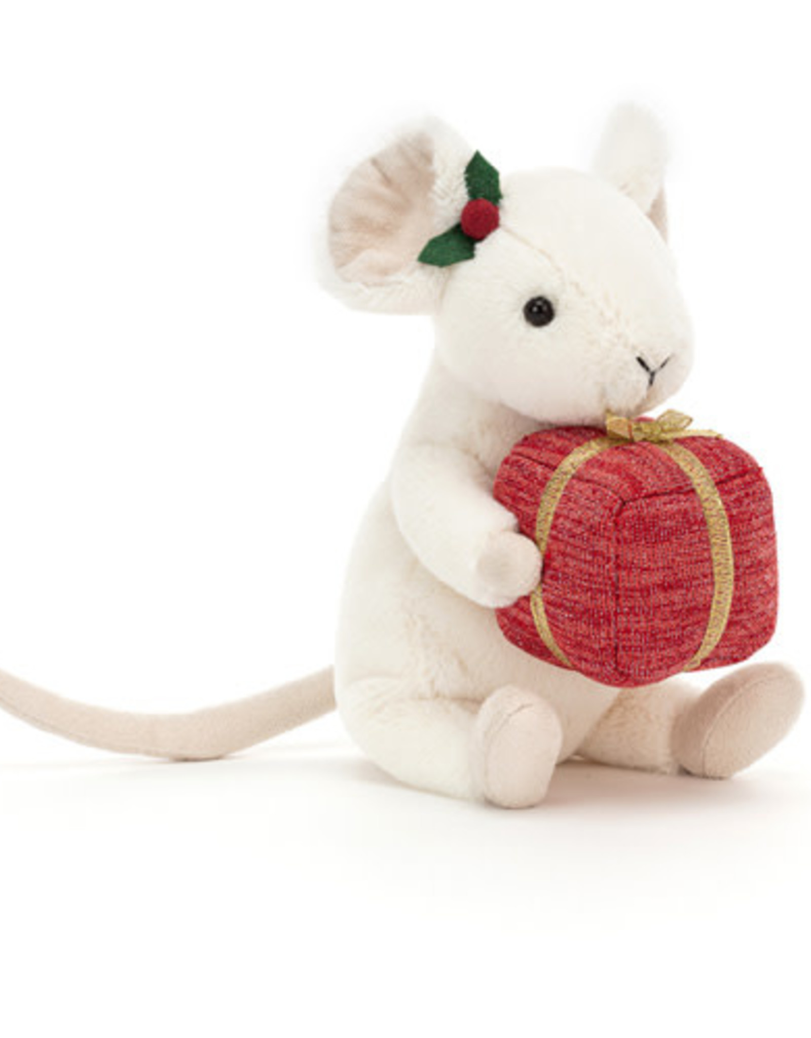 Jellycat Merry Mouse Present