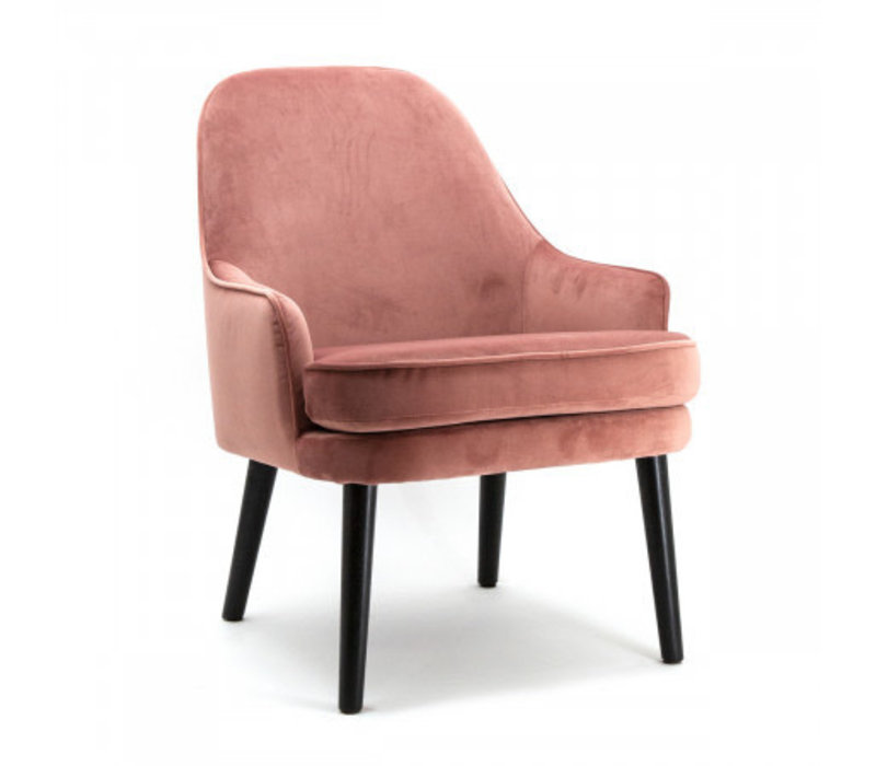 Fauteuil Babs roze