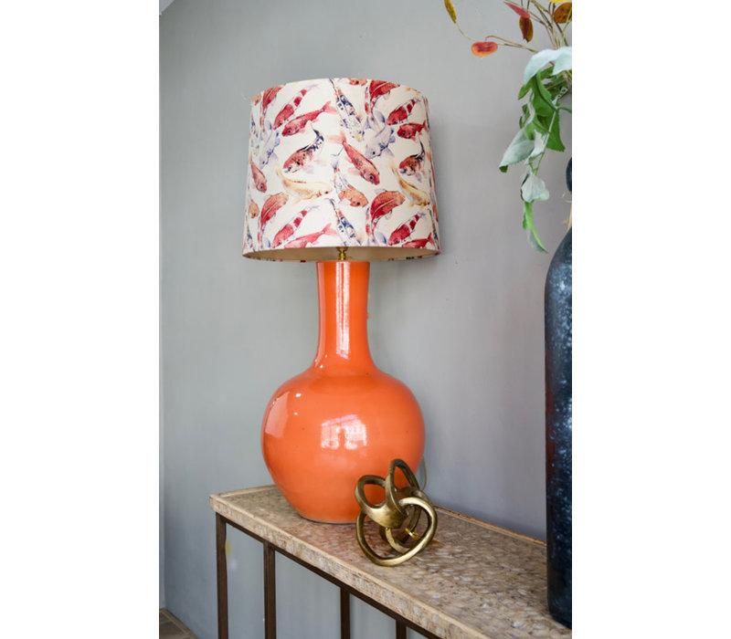 Tafellamp Porselein oranje