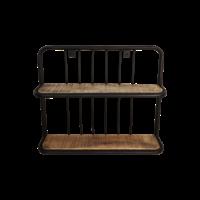 Wandplank mangohout/ijzer